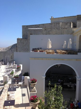 Palazzo de Piro: View of Terrace from Bastions