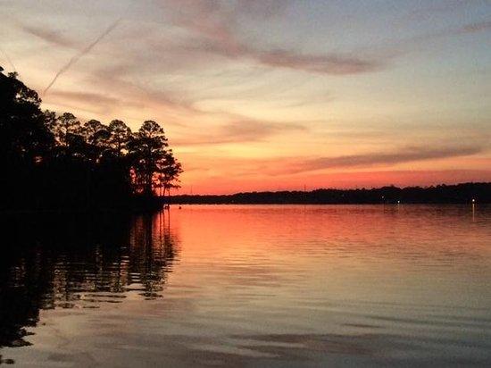 Fred Gannon Rocky Bayou State Park : Sunset over Rocky Bayou, Feb 2014
