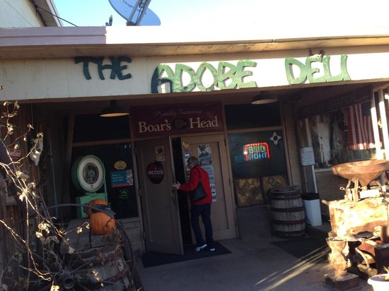 Adobe Deli: When busy you can wait on the porch