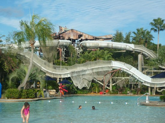 Disney's Typhoon Lagoon Water Park: Crush N Gusher Water Slides - They are like roller coasters! Best ones.