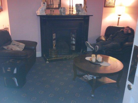 Anchor House Dublin: la stanza del camino