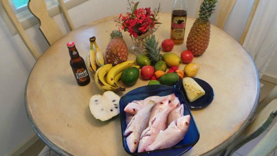 Antigua's Yepton Estate Cottages: Mise en place... for one of our home cooked Meals