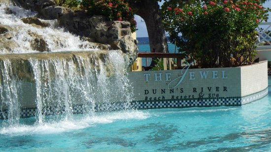 Jewel Dunn's River Beach Resort & Spa, Ocho Rios,Curio Collection by Hilton : This is at the foot of the Dunn's Falls model in the centre of the resort