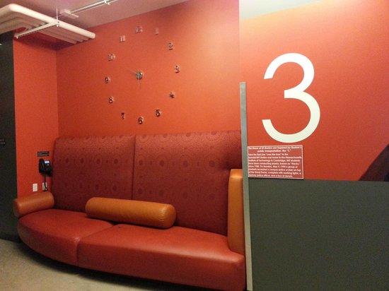 Hostelling International - Boston : The Orange Lounge Area in 3rd Floor