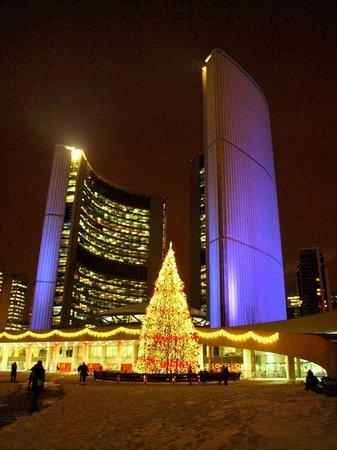 Nathan Phillips Square: City Hall at Christmas