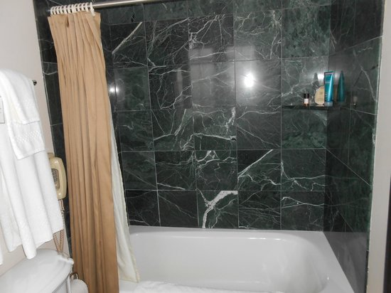 Hotel Baker: Granite tiled shower