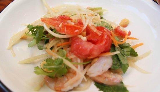 Joe Jack's Fish Shack: Tai shrimp & Papaya