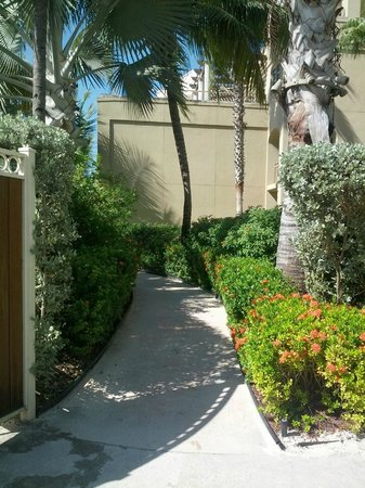 The Ritz-Carlton, Grand Cayman: walkway to beach area