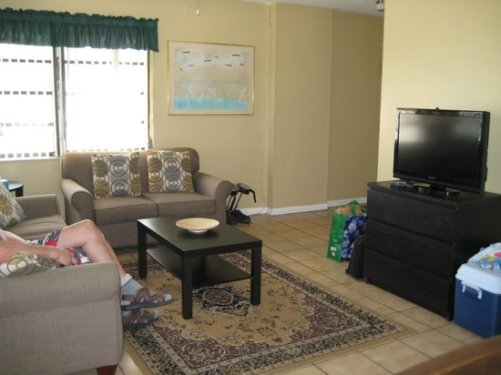 Neptune Hollywood Beach Hotel: salon de notre suite 301