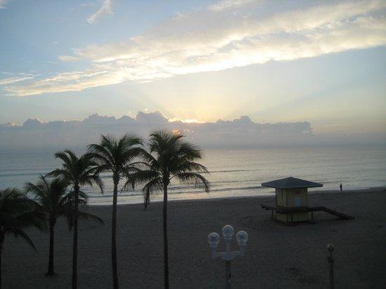 Neptune Hollywood Beach Hotel: lever du soleil
