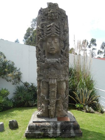 Capilla del Hombre: Aztec (?) relic, gift from Honduras, displayed on the grounds