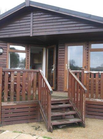 Athelington Hall Log Cabin Holidays: Original Lodge View