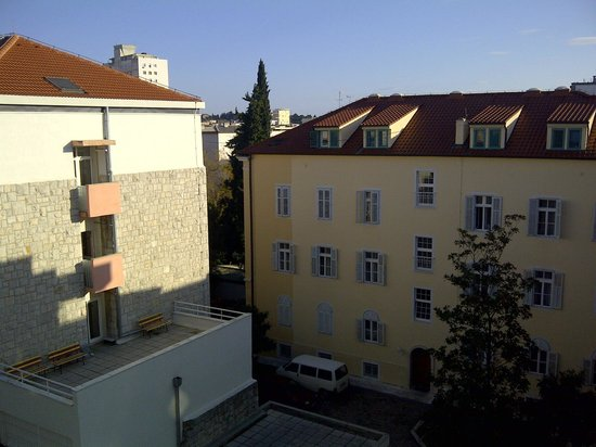 Split Apartments - Peric Hotel: VIEW FROM MY BALCONY & BEAUTIFUL OLD WORLD ARCHITECTURE