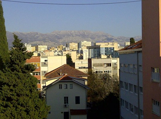 Split Apartments - Peric Hotel: LOOKING WEST TO THE INNER COUNTRY SIDE