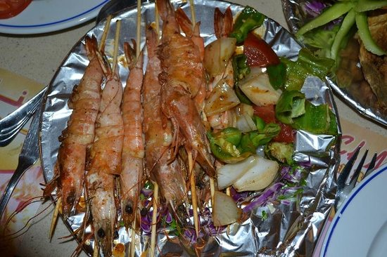 "El Mina Restaurant : INCREDIBLE GRILLED SHRIMP ""a #1 TOP taste plate"""