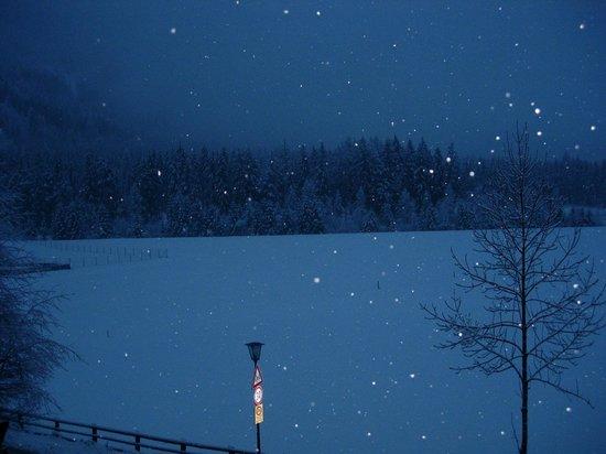Hotel Antholzerhof : nevicata in corso