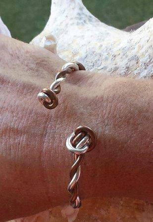 Crucian Gold : Crucian knot copper & silver cuff