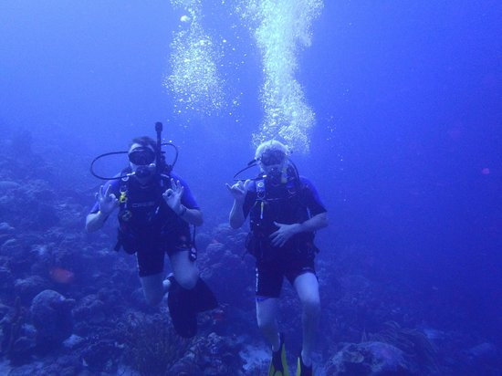 GO WEST Diving : Bill and Rick having fun