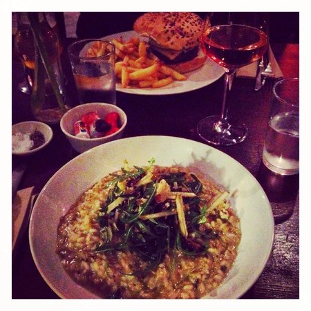 The Halsetown Inn: Caramelised leek and blue cheese risotto!