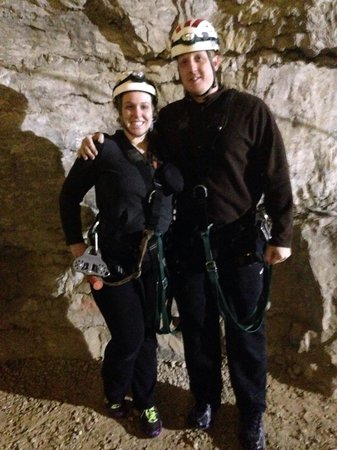 Louisville Mega Cavern: About to go zip lining!