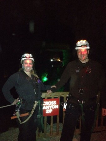 Louisville Mega Cavern : Cross Canyon Zip!