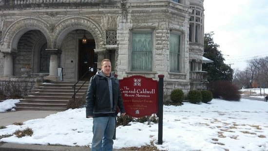 Conrad-Caldwell House Museum (Conrad's Castle) : My hubby in front of the house