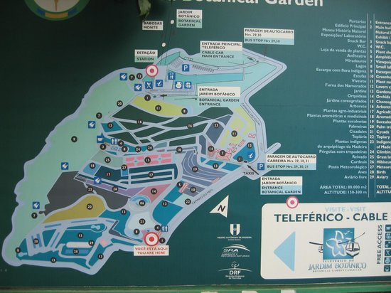 Madeira Botanical Garden : Map of the site