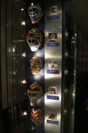 Hockey Hall of Fame: 1 of the many displays of goalie masks