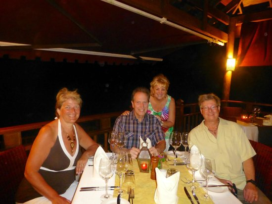 The Cliff at Cap Maison : I'm the one standing behind my husband with our friends Dagmar & Steve