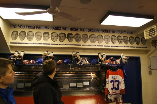 Hockey Hall of Fame: Montreal Canadiens locker rom replica