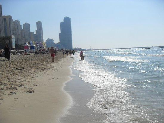 Hilton Dubai Jumeirah Beach : Private beach area