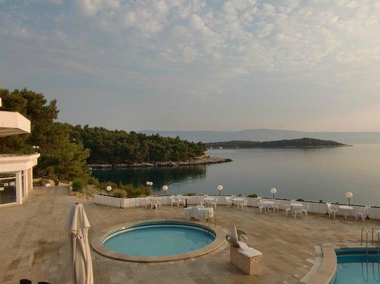 Adriatiq Resort Fontana: Vue de la terrasse du restaurant