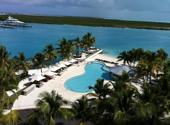 Blue Haven Resort: View of pool area from penthouse