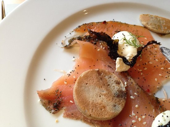 Michael Neave's Kitchen and Whisky Bar: Smoked Salmon Starter