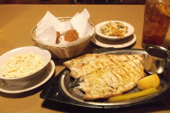 Smoky Mountain Trout House: Grilled trout.