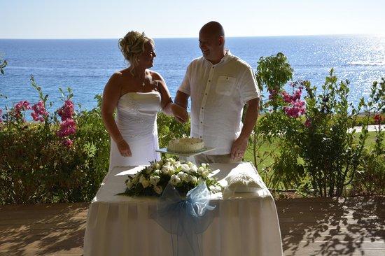 Atlantica Club Sungarden Hotel : Wedding cake in Gazebo