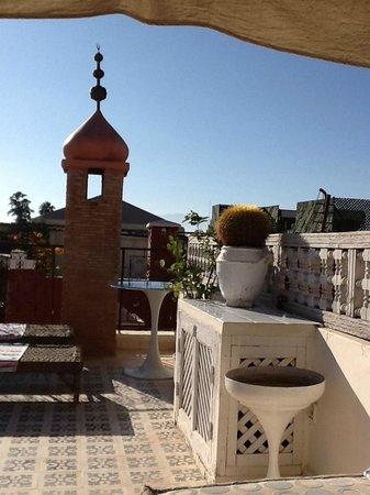 Hotel du Tresor: Terrasse