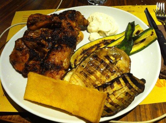 Rooster House : galletto con verdure grigliate