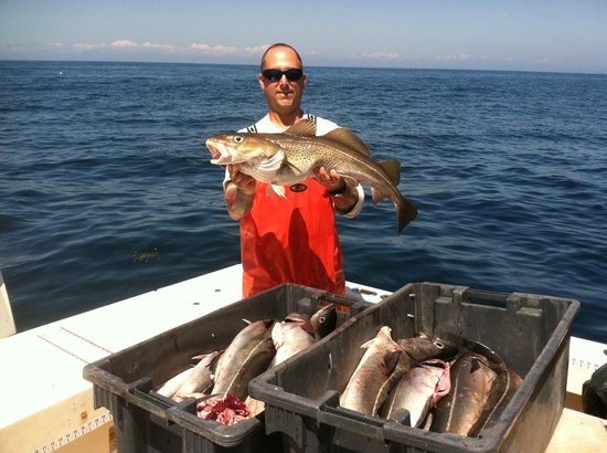 Catching cod on rita b picture of rita b offshore for Portland maine fishing