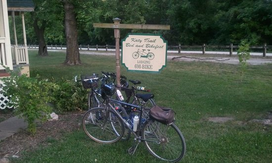 Katy Trail Bed & Bikefest B&B: Finally made it!