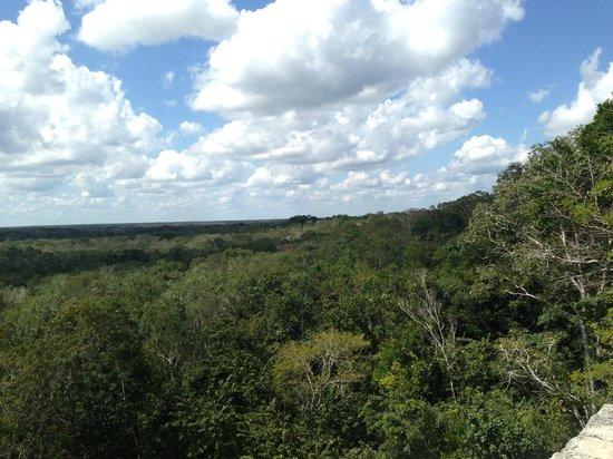 Ruinas de Coba: view from the top
