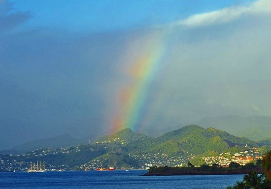 Grenadian by Rex Resorts: Rainbow on St. Georges harbour