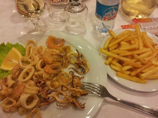 Fritto Misto Con Patatine Picture Of La Terrazza Novi Ligure