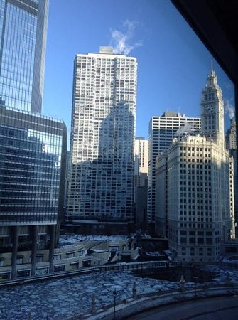 Wyndham Grand Chicago Riverfront: view from the 10th floor .