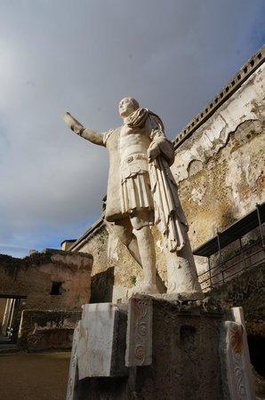 Ruins of Herculaneum: Statue