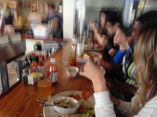 Santa Barbara Shellfish Company : sitting at the shellfish company bar8