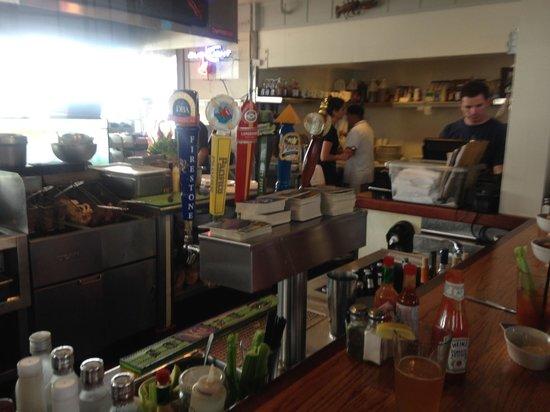 Santa Barbara Shellfish Company : sitting at the shellfish company bar5