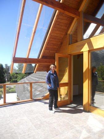 Antuquelen Hosteria Patagonica: Balcon terraza