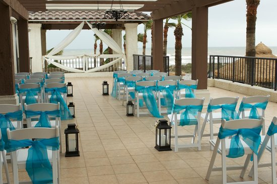 Pearl South Padre Sailfish Patio Beach View Wedding Ceremony