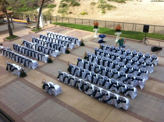 South Padre Island Weddings | Ocean Front Patio Beach View Wedding Ceremony Picture Of Pearl
